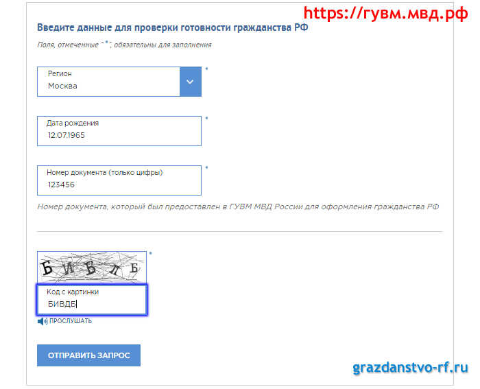 Проверка документов на гражданство рф